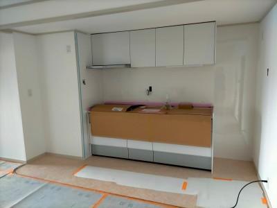 キッチン設置 取付完了 マンションリフォーム 神戸市 トラブラン