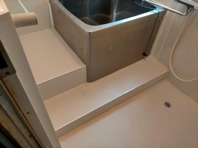 浴室 壁 パネル 床 シート リメイク  カバー工法 工事完了 神戸市 トラブラン