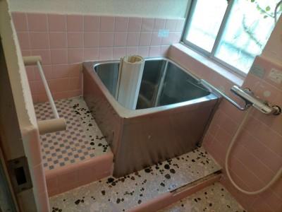 浴室 お風呂 リフォーム前 タイル浴室 神戸市 トラブラン