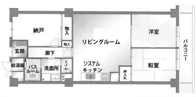 マンション リフォーム  平面図 間取り 賃貸 神戸市 トラブラン