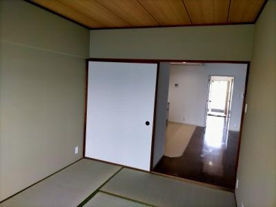 賃貸物件 リフォーム 和室 施工 壁紙 畳 マンション 神戸市 トラブラン