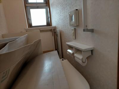 トイレ水漏れ 取替工事 便器取外し 現場調査 神戸市 トラブラン