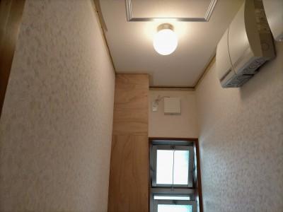 トイレ 配管スペース コンパネ張替え 神戸市 トラブラン