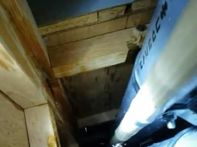 トイレ 漏水箇所 修繕 壁の開口 交換工事 神戸市 トラブラン