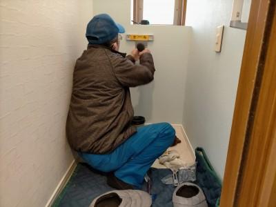 トイレ レストパル 取付け 工事 収納棚 神戸市 トラブラン
