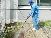 汚水マスの洗浄
